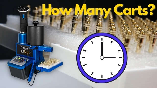 how fast cartridge filler in an hour